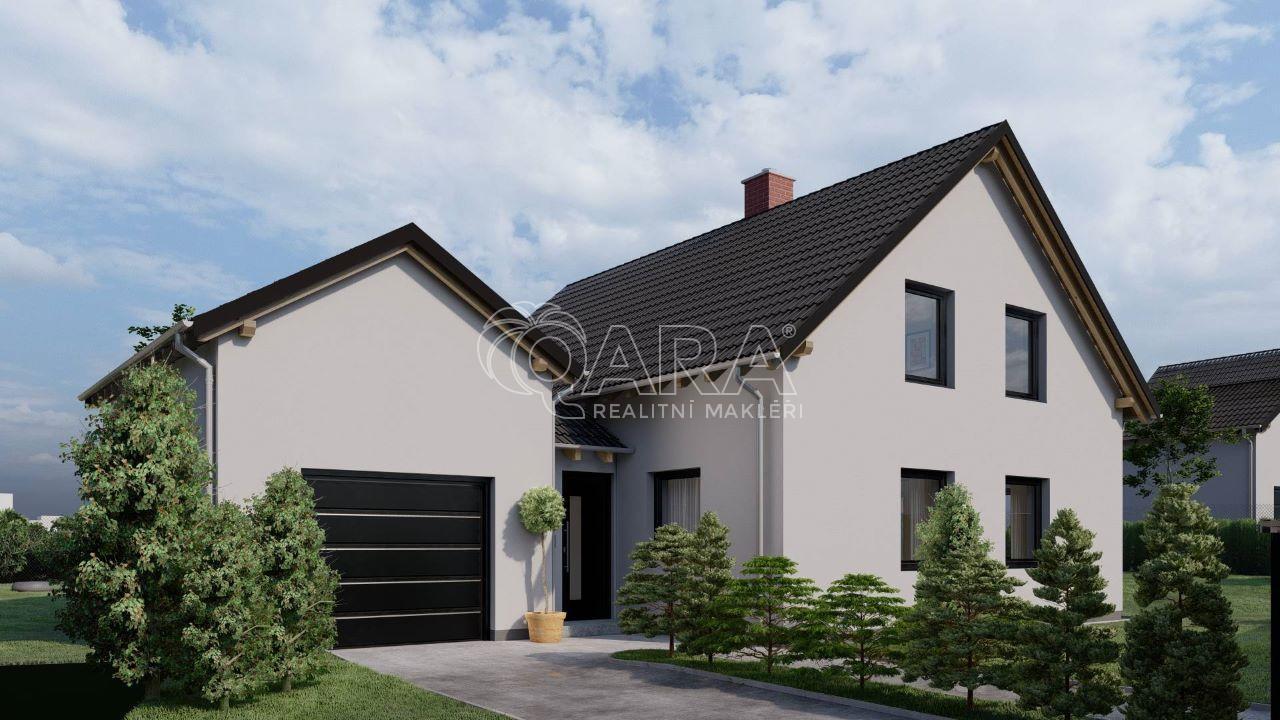 prodej novostavby rodinného domu 5+kk/G, 186m2 s pozemkem 727m2